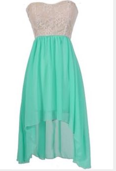 Mint White Dress So Adorable!!!!!