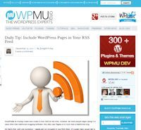 Include WordPress Pages in Your RSS Feed