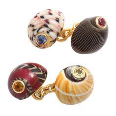 Trianon. Sea Shell Cufflinks