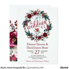 Christmas Wedding Invitations, Floral Wedding Invitations, Wedding Invitation Templates, Wedding Cards, Invites, Invitation Kits, Flower Invitation, Wedding Toasts, Winter Flowers