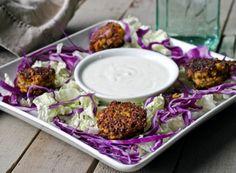 Falafel and Yogurt Tahini Sauce {grain-free, gluten-free} | Comfy Belly