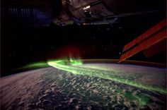 Crazy view of the northern lights from space