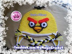 Yellow Angry Bird Crochet Hat, https://www.etsy.com/your/shops/MyMagicCrochetUS