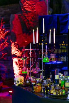 Halloween themed event hosted at The Grounds at Whoa! Studios  #corporateevent #event #business #corporate #auckland #venue #gothic #theme #newzealand #thegroundsnz #thegroundswhoastudios #halloween #eventlighting