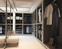 Magnificent Elegance Walk In Wardrobe Designs: Attractive Walk In Wadrobe Design Furniture For A Large Space Ideas With Full Of Dress Appliences And Fashionable Mirror Decoration Ideas ~ fharriman.com Furniture Inspiration