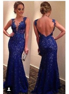 Custom Purple Floor Length Short Sleeves Sexy Long Lace Prom Dress With Open Back