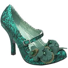 Teal Irregular Choice     I should wear these in a heartbeat!