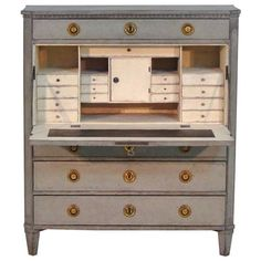 18th Century Swedish Gustavian Secretary   From a unique collection of antique and modern secretaires at https://www.1stdibs.com/furniture/storage-case-pieces/secretaires/