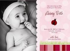 History of Baby Birth Announcements