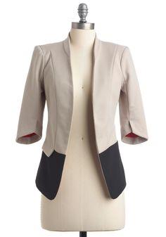 In Living Monochrome Blazer | Mod Retro Vintage Jackets | ModCloth.com