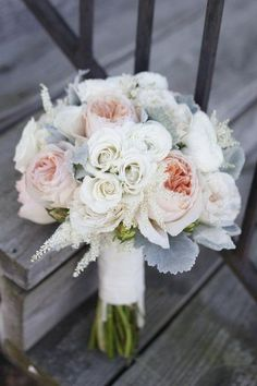 Boho Chic Hip Informal Romantic Rustic Vintage Gray Pink White Barn Bouquet Garden Modern Space Ranunculus Rose Spring Summer Vineyard Wedding Flowers Photos & Pictures - WeddingWire.com