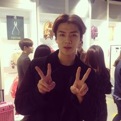 Sehun | 141205 cosmopolitankorea Instagram Update - MCM LAB Grand Opening at COEX