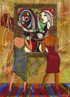 A Day with Masters (2014) Marcus Glenn #art #parkwestgallery #parkwestart #MarcusGlenn #Picasso #contemporaryart