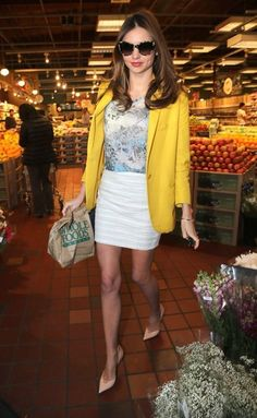 Cute. A #WholeFoods run! I am all about this! Cute blazer and nude stilettos!