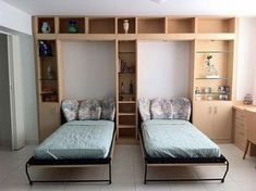 Twin Murphy beds.