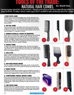 Not sure which combs are best for your hair type and styling? Check out this post a our comb guide featured in the latest issue of Natura Magazine!