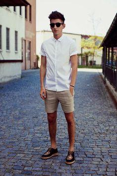 shorts short sleeve shirts and lace ups