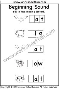 Beginning Sound – 6 Worksheets | Kindergarten Worksheets ...