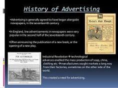 Risultati immagini per history of advertising