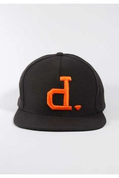 Diamond Supply Co. Un-Polo Snapback Hat - Black/Orange $40.00