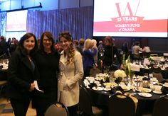 Melissa Stephens with Naz Isamova and Kara O'Connor. A cordial cherry thank you to Barbara Corcoran of Shark Tank and the Women's Fund of Omaha.