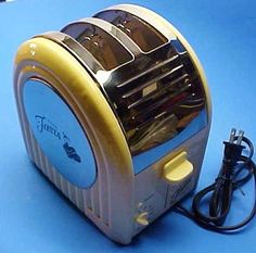 Vintage Fiesta Toaster Cream Color Art Deco Retro Kitchen Appliance Nice | eBay