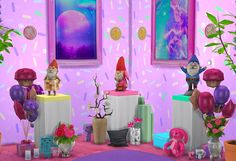 grilledcheese-aspiration:  and another pedestal maxis made super ugly, i fixed it. have some lovely colors <3 all functional things need to be pretty and cute ok. so now you're little man pedestals are cute!~ * Download @ Sims File Share * ~  **updated download link**