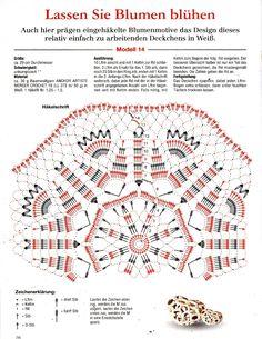 Flower crochet doily diagram