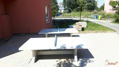 Pingpongtafel Naturel Beton bij Freie Waldorfschule Wetterau in Bad Nauheim