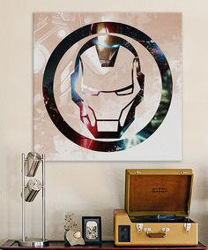 Look at this #zulilyfind! Iron's Man Symbol Gallery-Wrapped Canvas by Avengers #zulilyfinds