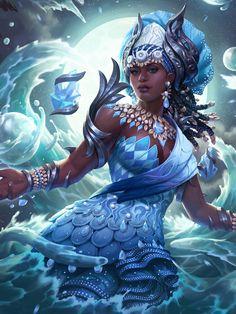 Black Love Art, Black Girl Art, Black Girl Magic, Art Girl, Oshun Goddess, Goddess Art, Moon Goddess, African Mythology, African Goddess