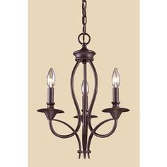 Westmore Lighting Kovin Park 14-In 3-Light Oil-Rubbed Bronze Candle Ch