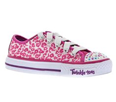 Girls' Twinkle Toes: Shuffles - Mysticals Light-Up Shoes Magically gorgeous and fun style comes in the SKECHERS Twinkle Toes: Shuffles - Mysticals shoe. Soft fabric upper with all over mini sequin finish in a lace up casual light up sneaker with painted metallic canvas overlays and stitching detail.