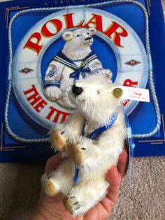 Steiff Ed FAO Schwarz White Tag Mini Mohair Titanic Polar Bear w Book Look | eBay