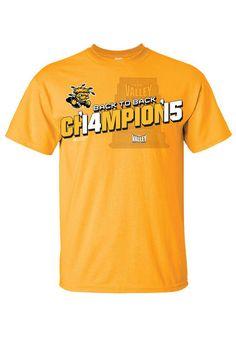Wichita State Shockers 2015 MVC Champions Short Sleeve Tee http://www.rallyhouse.com/shop/wichita-state-shockers-mens-short-sleeve-tshirt-gold-8090369?utm_source=pinterest&utm_medium=social&utm_campaign=Pinterest-WSUShockers $19.99
