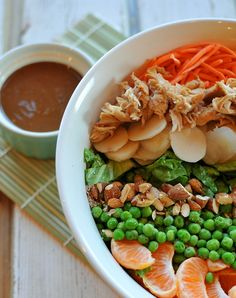 We've all heard of a Mexican Layered Salad, but how about mixing things up and trying this salad with an Asian twist! Nosh and Nourish gives you seven perfect