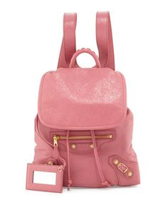Giant 12 Traveler XS Backpack, Rose by Balenciaga at Neiman Marcus.