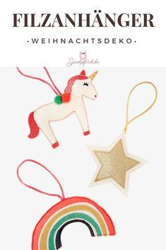 Weihnachtsdeko für den Weihnachtsbaum. Das Set von vertbaudet, bestehend aus einem Einhorn, Regenbogen und Stern aus Filz, wird dein Kind begeistern. Besuche uns auf Spielpferd.de. #weihnachtsdeko #weihnachten #weihnachtsdekoration #christbaumschmuck #baumschmuck #einhorn #regenbogen