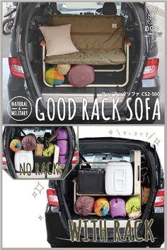 車の荷室に棚をつくる。キャンプ用品の車内収納を手助けをする2人掛けソファ。 キャンプがぐっと豪華になる2人掛けソファ。 片手で運べるソファの最大のネックだった車内での収納のしづらさを改善し、逆に収納の手助けをする棚として使用可能にしました。 DOPPELGANGER OUTDOOR (ドッペルギャンガーアウトドア) 略してDOD。 #キャンプ #アウトドア #テント #タープ #チェア #テーブル #ランタン #寝袋 #グランピング #DIY #BBQ #DOD #ドッペルギャンガー #camp #outdoor