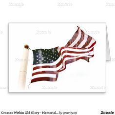 #Patriotic Crosses Within Old Glory  Note Card by #Gravityx9 #Zazzle -
