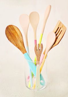 Painted wooden spoons.