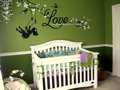I am planning a nursery for my first baby.... we don't know the gender yet... but I love this idea!