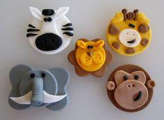 Jungle Animal Assortment 1 Dozen by sweetenyourday on Etsy
