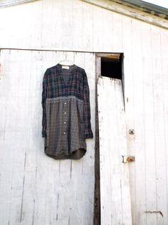 small  large  upcycled heart shirt / dress /  eco by CreoleSha, $65.00