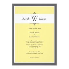 This DealsGrey and Yellow Monogram Wedding Invitationslowest price for you. In addition you can compare price with another store and read helpful reviews. Buy