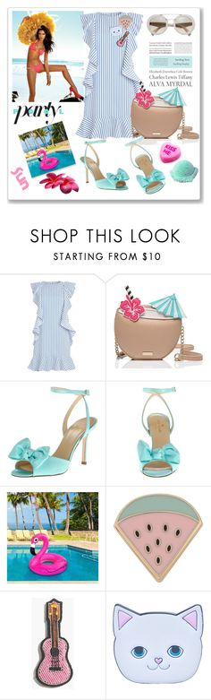 """Pool Party"" by molnijax ❤ liked on Polyvore featuring Beach Bunny, Kate Spade, Tiffany & Co., Des Petits Hauts, Madewell and Local Heroes"
