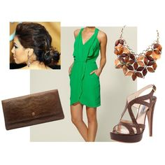 Green & Brown Croc, created by dottcaldwell on Polyvore