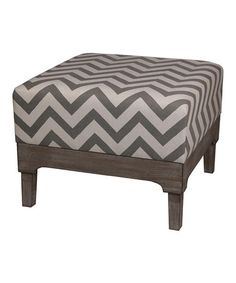 Another great find on #zulily! Square Zigzag Ottoman #zulilyfinds