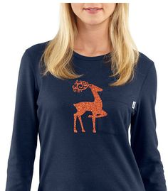 Iron-On Gold Reindeer Doe  DIY Christmas shirt  by ColorMeUncommon