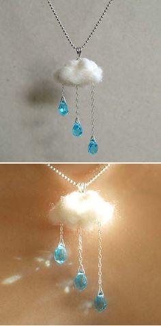 Rain cloud necklace